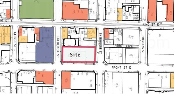 158 Front Condos Site Map